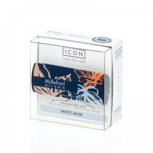 MM CAR ICON Textile Floral WHITE MUSK